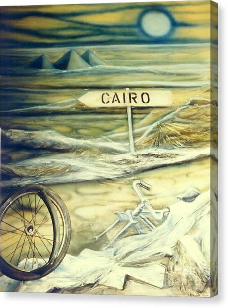 Way To Cairo Canvas Print