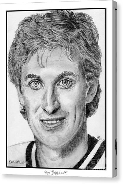 Los Angeles Kings Canvas Print - Wayne Gretzky In 1992 by J McCombie