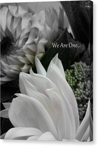 We Are One Canvas Print by Sian Lindemann