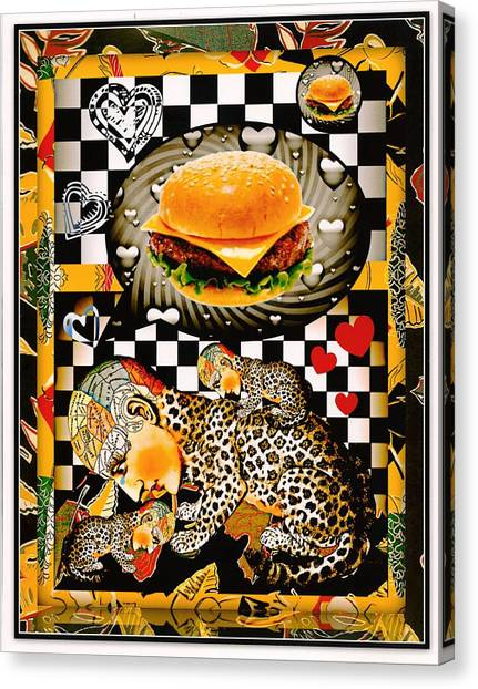 Cheesburger Canvas Print - We Can Haz No Chezburgers Now by Janiece Senn