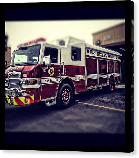 Firefighters Canvas Print - We Got Our New Truck Today.... #iaff by James Crawshaw