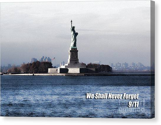 We Shall Never Forget - 9/11 Canvas Print