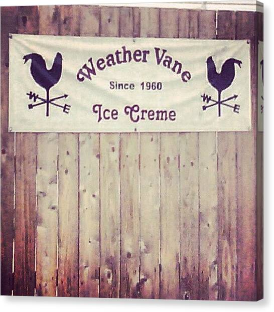Saints Canvas Print - Weather Vane Ice Cream by Anna Beasley