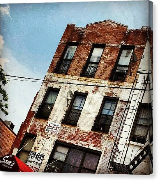 Installation Art Canvas Print - #weathered #buildings #character by Radiofreebronx Rox