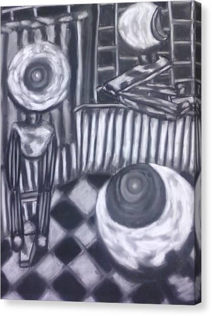 Webcam Frenzy Canvas Print by Cecelia Taylor-Hunt