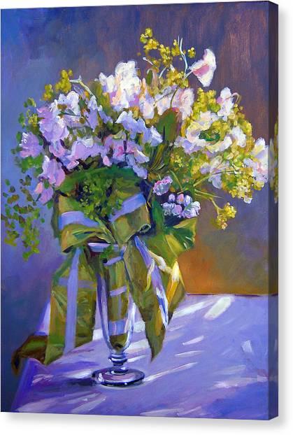 Lavendar Canvas Print - Wedding Bouquet by David Lloyd Glover