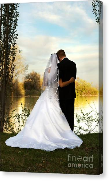 Wedding Couple Canvas Print