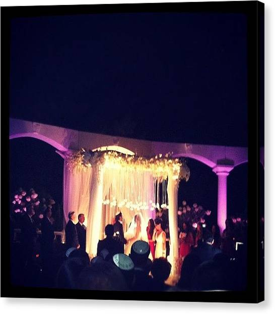 Groom Canvas Print - #wedding #summer #august #2012 #bride by Alex Mamutin