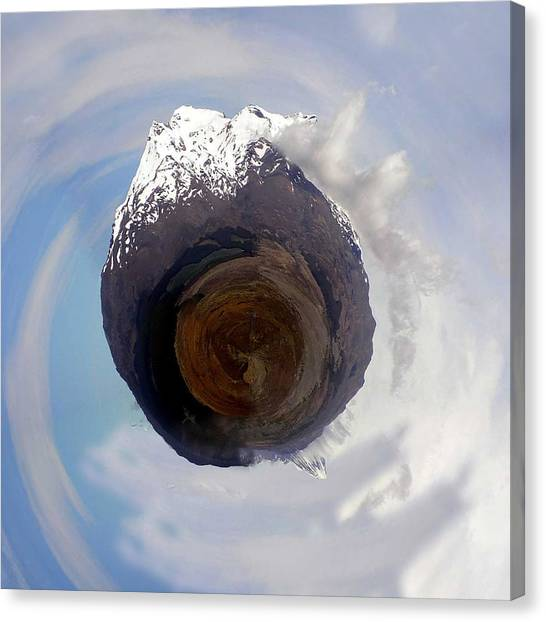 Ice Climbing Canvas Print - Wee Tongariro Volcanoes by Nikki Marie Smith