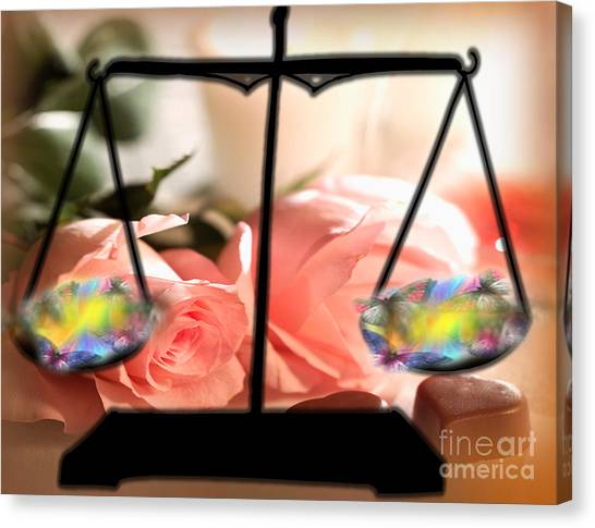 Weighing Beauty Canvas Print