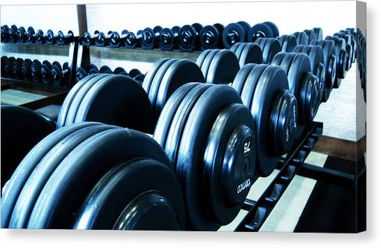 Weights Horizontal Canvas Print