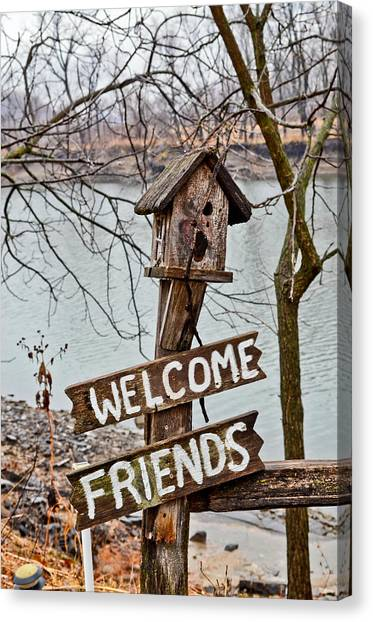 Welcome Friends Canvas Print by Brenda Becker
