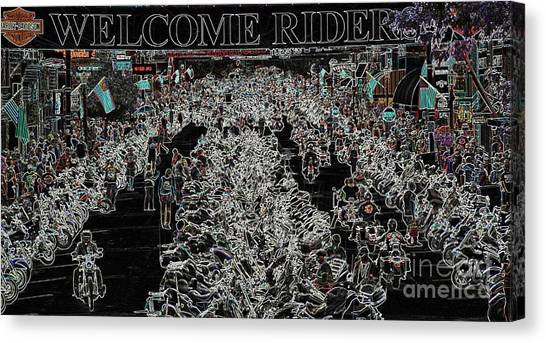 Welcome Riders Canvas Print