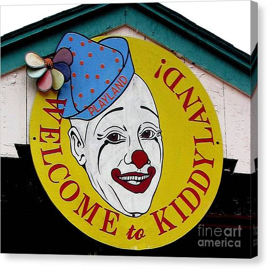 Welcome To Kiddyland Canvas Print by Maria Scarfone