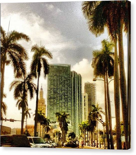 Miami Skyline Canvas Print - Welcome To Miami City by Christopher Collado