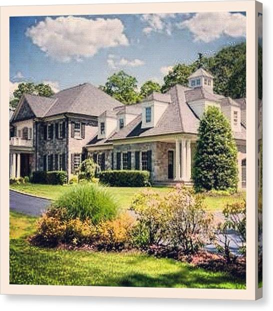 Soccer Leagues Canvas Print - Welcome To Stone Manor, A 6 Bedroom by Laffey Fine Homes