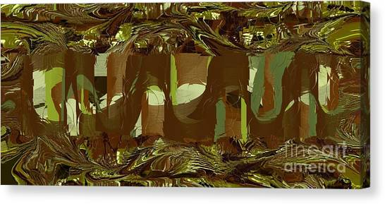 Green Camo Canvas Print - Welcome To The Jungle by Michelle Lee