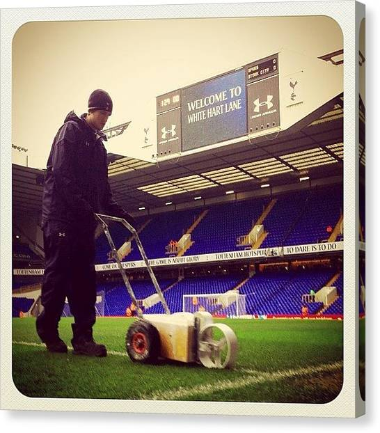 Spurs Canvas Print - Welcome To White Hart Lane #whitelines by Phil Greig