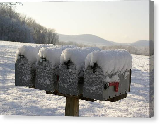 Welcomed Mail Canvas Print by Margaret Steinmeyer