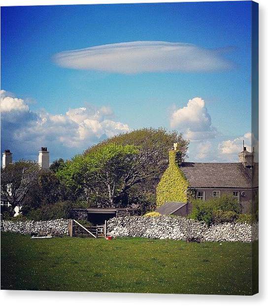 Ufos Canvas Print - #welsh #cottages Under An #ufo #cloud by Alexandra Cook