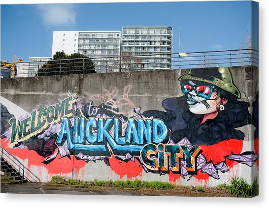 Welsome To Auckland City Canvas Print