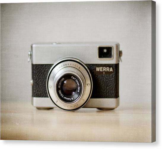 Vintage Camera Canvas Print - Werra by Violet Gray