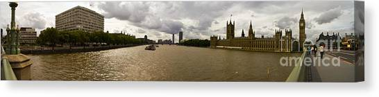 Wesminster Pano Canvas Print by Keith Sutton