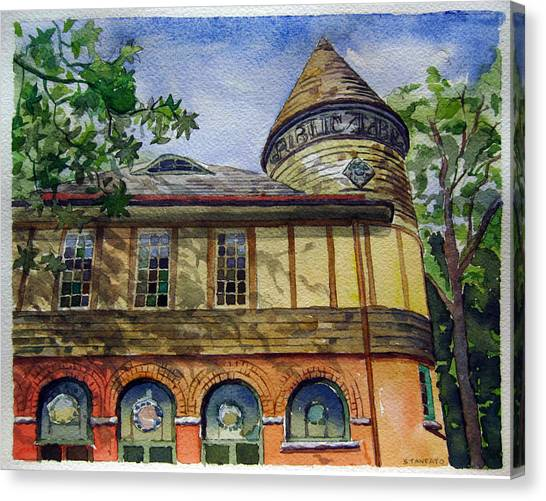 West Chester Library Canvas Print by Michael Stancato