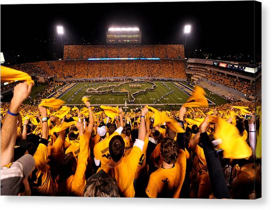 West Virginia Milan Puskar Stadium Canvas Print by Lance King
