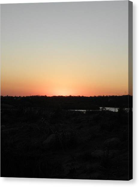 Westerly Ri Sunset Canvas Print by Kim Galluzzo Wozniak