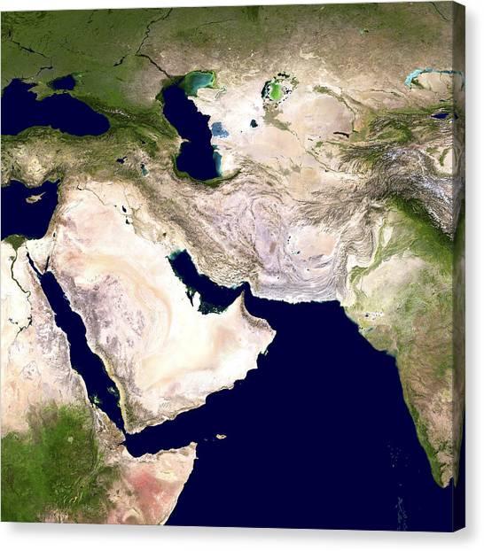 Western Asia, Satellite Image Canvas Print by Nasa