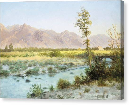 Mountain West Canvas Print - Western Landscape by Albert Bierstadt