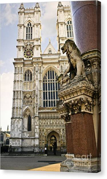 Westminster Abbey Canvas Print - Westminster Abbey by Elena Elisseeva