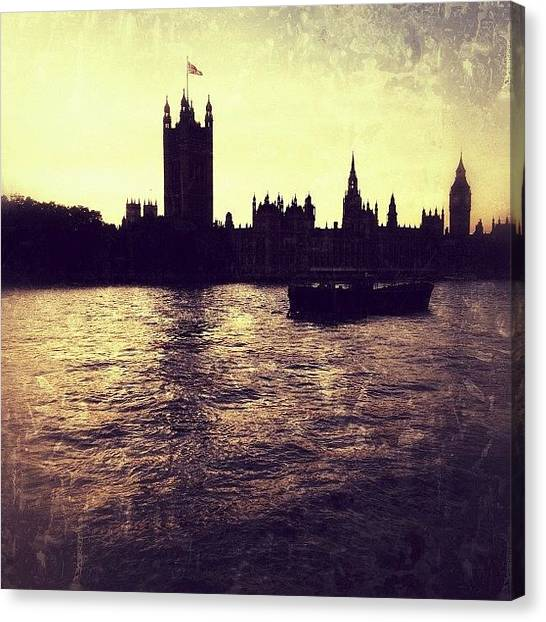 Big Ben Canvas Print - Westminster At Sunset by Marc Gascoigne