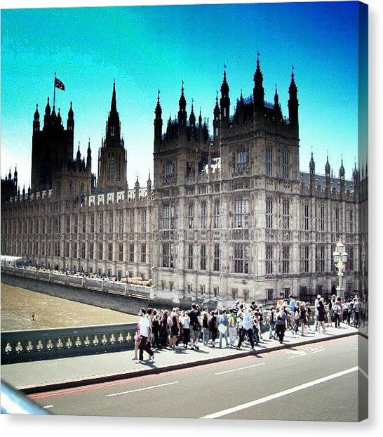 Follow Canvas Print - Westminster, London 2012 | #london by Abdelrahman Alawwad