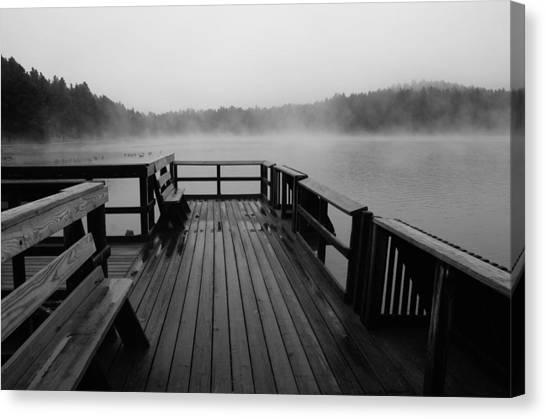 Wet Raining Fog Afternoon Canvas Print
