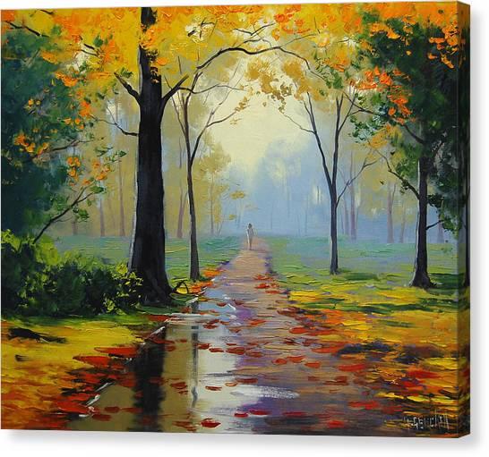 Wet Canvas Print - Wet Road by Graham Gercken
