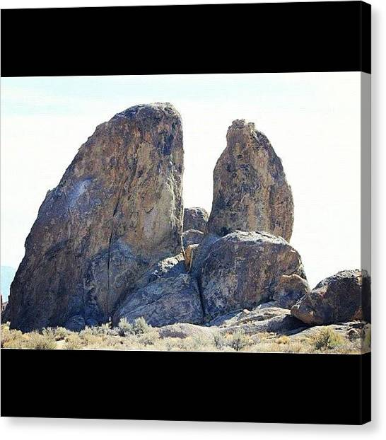 Whales Canvas Print - Whale Rock #alabamahills #rocks #whale by Mark Jackson
