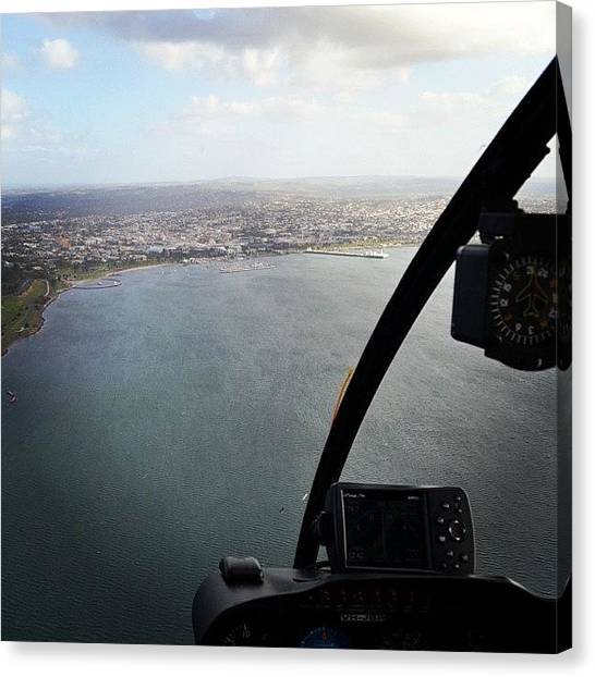 Helicopters Canvas Print - What Better Way Is There To See Things by Robert Puttman