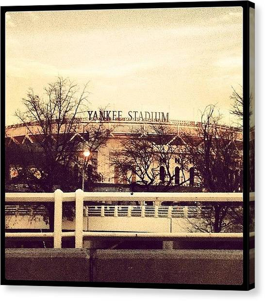 Stadiums Canvas Print - What Do You Think When You See This? by Luis Alberto