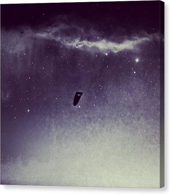 Ufos Canvas Print - What Goes On In Our Night Skies by Nathan Sears
