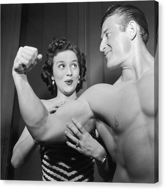 What Muscles! Canvas Print by Archive Photos