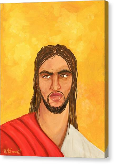 ''what Would Jesus Do'' Canvas Print by Mccormick  Arts