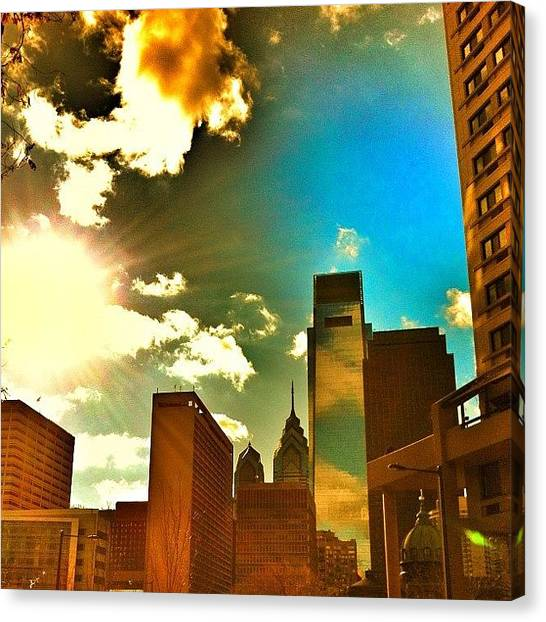 Philadelphia Canvas Print - Whatchu Know Bout Re-edits? #iphoneonly by Dylan Hotfire