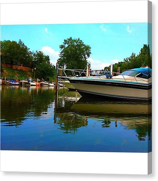 University Of Illinois Canvas Print - [whatever Floats Your Boat] by Ben Leser