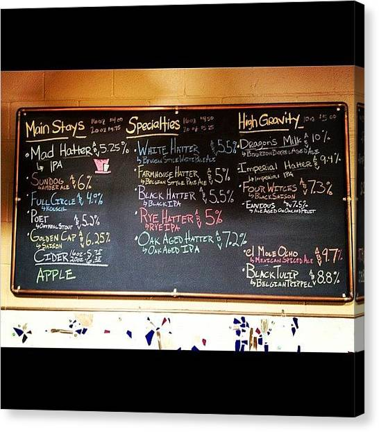 Beer Canvas Print - What's On Tap? by Rex Pennington