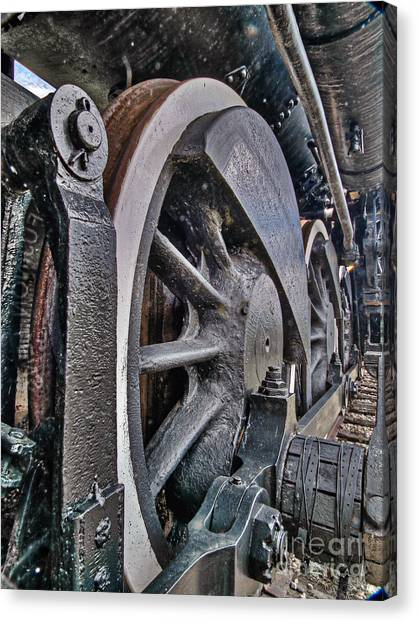 Wheels Of Steel Canvas Print