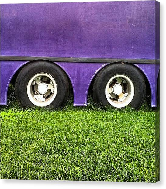 Trucks Canvas Print - Wheels On The Bus by Brent McGilvary