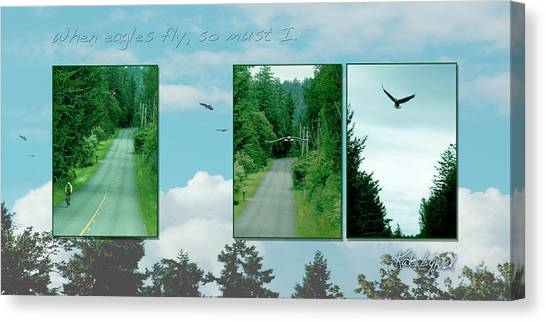 When Eagles Fly So Must I Canvas Print