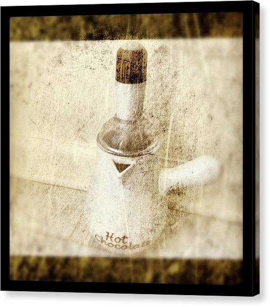 Liquids Canvas Print - When I Crave Hot Chocolate I Use This by Alicia Greene